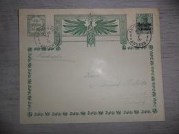 ( B 75 ) Bezet Gebied - Enveloppe Met Postwaardestuk Entier Postal - Oorlog  Guerre Antwerpen 1915 - Ganzsachen