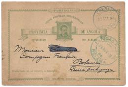 ANGOLA (Portugal) - 1898 Postal Card To BOLAMA, PORTUGUESE GUINEA Via São Vicente - Angola