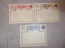 ( B 76 ) Bezet Gebied - 3 Enveloppen Met Postwaardestuk Entier Postal - Oorlog  Guerre Antwerpen 1914 + Feldpost - Entiers Postaux