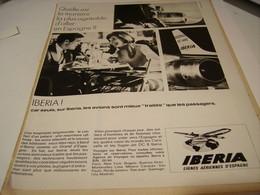 ANCIENNE PUBLICITE LIGNE AERIENNE IBERIA 1965 - Advertisements