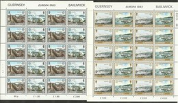 1983 Guernsey EUROPA CEPT EUROPE 20 Serie Di 2v. In Minifoglio MNH** Minisheet - Europa-CEPT