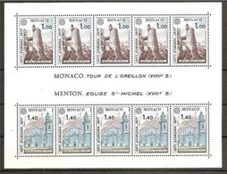 1977 Monaco EUROPA CEPT EUROPE Foglietto MNH** Souv. Sheet - Europa-CEPT