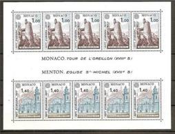 1977 Monaco EUROPA CEPT EUROPE Foglietto MNH** Souv. Sheet - 1977