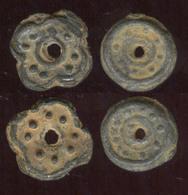 Cambodia Khmer Empire Smallest Lead Coins Ca 800-1000 Ad, VF-EF RARE - Cambodge