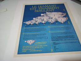 ANCIENNE PUBLICITE DIAMANTS EST VRAIMENT BRILLANT 1979 - Bijoux & Horlogerie