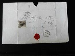 LETTRE POUR BRUXELLES  -  1858  - - Postmarks - Lines: Distributions