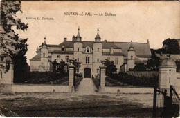 3 Oude Postkaarten  Houtain-le-Val  Le Château  1908  Edit. Cardona Ancienne Justice   Une Pensée - Genappe