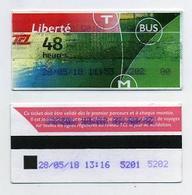 Ticket De Bus 48 Heures Lyon 69 Rhône - Avec Mention Liberté - Bus