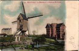 2 Oude Postkaarten Scherpenheuvel  Montaigu  Molen  Kasteel Michiels   Hondenkar  1902      Mijne Groeten - Scherpenheuvel-Zichem