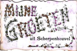 2 Oude Postkaarten Scherpenheuvel  Montaigu      Mijne Groeten   Bonjour De Montaigu   1907 - Scherpenheuvel-Zichem