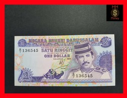 Brunei 1 $ 1989 P. 13 UNC - Brunei