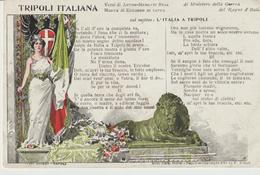 429-Tripoli-Libia-Africa-ex Colonie Italiane-Militaria-Guerra Italo-Turca-Versi Di A.Menotti Buja, Musica Di E.Di Capua - Libya