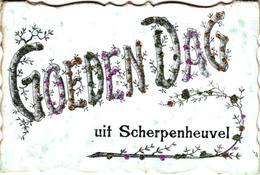 1Oude Postkaart   Scherpenheuvel  Montaigu       Goeden Dag Uit Scherpenheuvel    1907 - Scherpenheuvel-Zichem