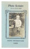 Photo Scolaire - Année 1919-1920, Photo Universitaire Paris, Enfant, école , CDV - Photos