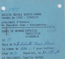 STAVELOT - SOCIÉTÉ ROYALE SAINTE-BARBE (1980) - Unclassified
