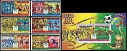 Soccer Football Comores Komoren #384/9 + Bl 116 1978 World Cup Argentina MNH ** - Coupe Du Monde