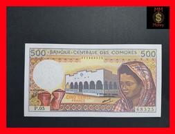 Comoros 500 Francs P. 10 Sign 9 UNC - Komoren