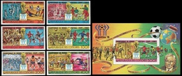 Soccer Football Comores Komoren #384/9B + Bl 116B Imperf 1978 World Cup Argentina MNH ** - Coupe Du Monde