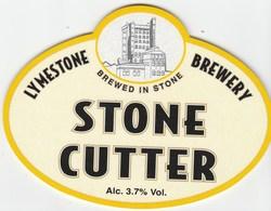 LYMESTONE BREWERY (STONE, ENGLAND) - STONE CUTTER - PUMP CLIP FRONT - Schilder