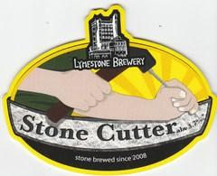 LYMESTONE BREWERY (STONE, ENGLAND) - STONE CUTTER (2) - PUMP CLIP FRONT - Schilder