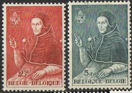 PIA - BEL -  1959- 5° Centenario Della Nascita Di Papa Adriano VI° - Ritratto Di Jan Van Scorel -  (Yv 1109-10) - Christianisme