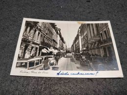 VERY RARE ANTIQUE PHOTO POSTCARD PORTUGAL LISBOA RUA DO OURO WITH TRAM CIRCULATED 1943 - Lisboa