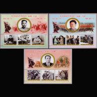 NORTH KOREA 2003 - Scott# 4313-5 S/S Korean War 50th. MNH - Korea, North