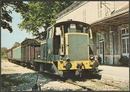 Locotracteur Y 7532 En Gare D'Uzès, 1980 - Biblio-Rail CPA - Trains
