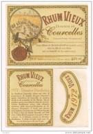 Etiquette   RHUM Vieux Distillé En 1972 - Importation Italienne -  Domaine De  Courcelles - GUADELOUPE - - Rhum