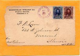 Honduras 1905 Front Of Cover Mailed - Honduras