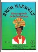 Etiquette  Rhum Agricole Marsolle - 50% 100 Cl - Pointe à Pitre - GUADELOUPE - - Rhum