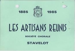 STAVELOT - LES ARTISANS RÉUNIS (1885-1985) - Carte De Membre. - Unclassified