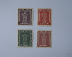 INDIA 1950. SERVICE POSTAGE STAMPS. Ashokan Capital, 1Re; 2Rs; 5Rs And 10Rs. MNH - 1950-59 République