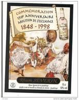 Etiquette Séverin  - Rhum Agricole  - Commémoration 150 è Anniversaire Abolition Esclavage - 50%  70 Cl - GUADELOUPE -- - Rhum
