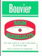 Etiquette  RHUM  Bouvier  Agricole  50° - Distillerie Bouvier à Baillif -   GUADELOUPE - Imp. Jarry  - - Rhum