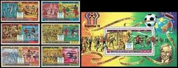 Soccer Football Comores Komoren #478/83aA + Bl 174aA Silver- Black Ovpt 1978 World Cup Argentina MNH ** - Coupe Du Monde