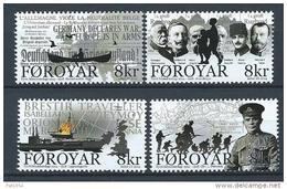 Iles Féroé 2014 N°810/813 Neufs 1ere Guerre Mondiale - Féroé (Iles)