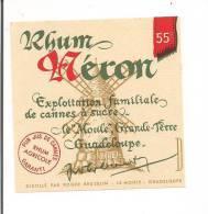 2 Etiquettes  RHUM  Néron Et Bourdon - Anciennes Distilleries -  GUADELOUPE  -- - Rhum