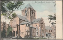 Old South Church, Worcester, Massachusetts, C.1905 - Lundborg U/B Postcard - Worcester