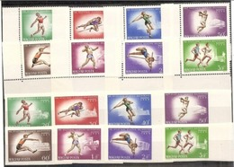 1966 Ungheria Hungary CAMPIONATI EUROPEI ATLETICA  ATHLETICS 2 Serie Di 8v. (1852/59, 1852/59A) MNH** - Atletica