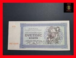Czechoslovakia 2.000 2000 Kurun 1945 P. 50A UNC *SPECIMEN* - Tchécoslovaquie