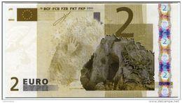 """Belle Carte """"Cie Générale De Bourse"""" Paris, Représentant Un Billet Fictif De 2 Euros - Préhistoire - Euro Bank Note - Zonder Classificatie"""