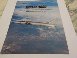 ANCIENNE PUBLICITE AVION  MIRAGE 4000 1979 - Advertisements