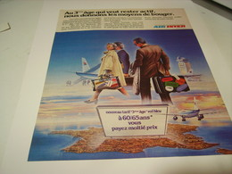 ANCIENNE PUBLICITE LIGNE AERIENNE AIR INTER 1979 LES 3EME AGE - Advertisements
