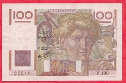 "100 Francs ""Jeune Paysan"" Du 21/11/1946F--- Série V.138 Dans L 'état - 1871-1952 Antichi Franchi Circolanti Nel XX Secolo"