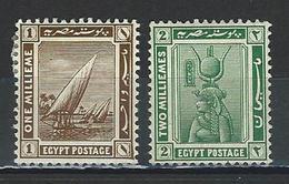 Ägypten SG 84-85, Mi 55-56 * MH - 1915-1921 Protectorat Britannique