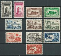 FEZZAN 1949 . Série N°s 43 à 53 . Neufs (*) Sans Gomme. - Neufs