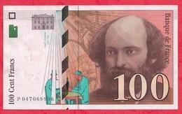 """100 Francs """"Cézanne"""" 1998  --N°P.047069996 Dans L 'état - 1992-2000 Dernière Gamme"""