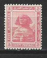 Ägypten SG 90, Mi 67 * MH - 1915-1921 Protectorat Britannique