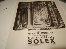 ANCIENNE PUBLICITE SOLEX CARBURANTS DE REMPLACEMENT - Transportation